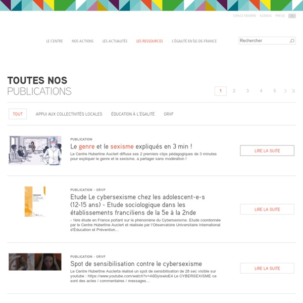 Centre Hubertine Auclert : publications