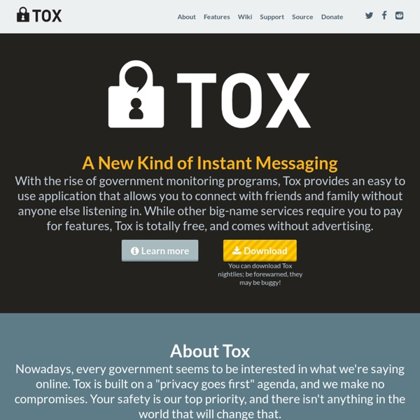 Tox: A New Kind of Instant Messaging