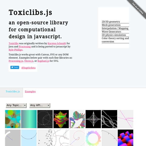 Toxiclibs.js - Open-Source Library for Computational Design