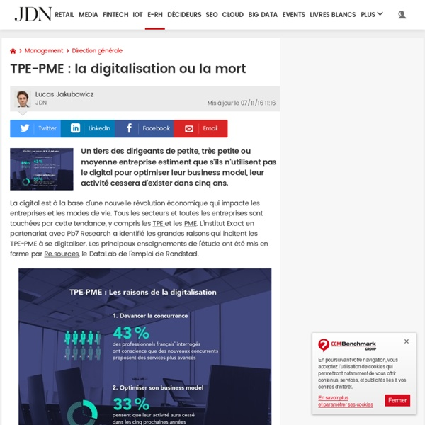 TPE-PME: la digitalisation ou la mort