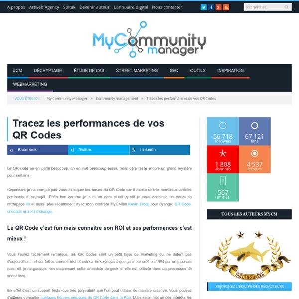 Tracez les performances de vos QR Codes