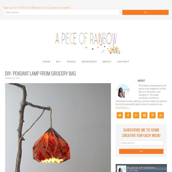 DIY: Pendant Lamp From Grocery Bag