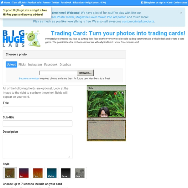 Trading Card: Turn your photos into trading cards!