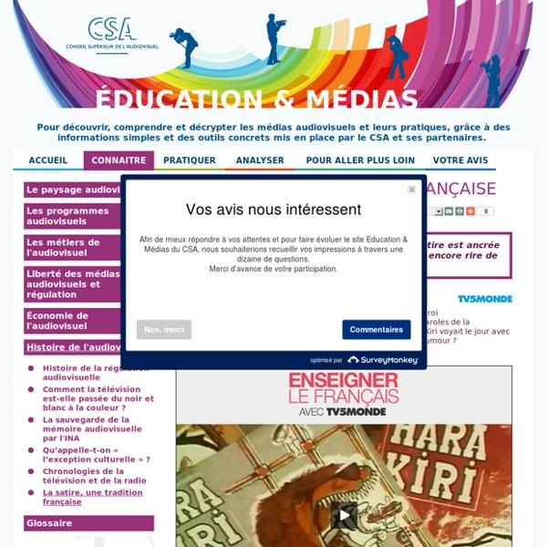 La satire, une tradition française / Histoire de l'audiovisuel / Connaître