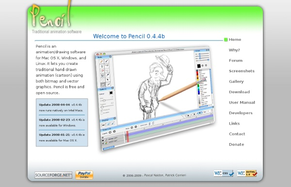 Pencil - a traditional 2D animation software