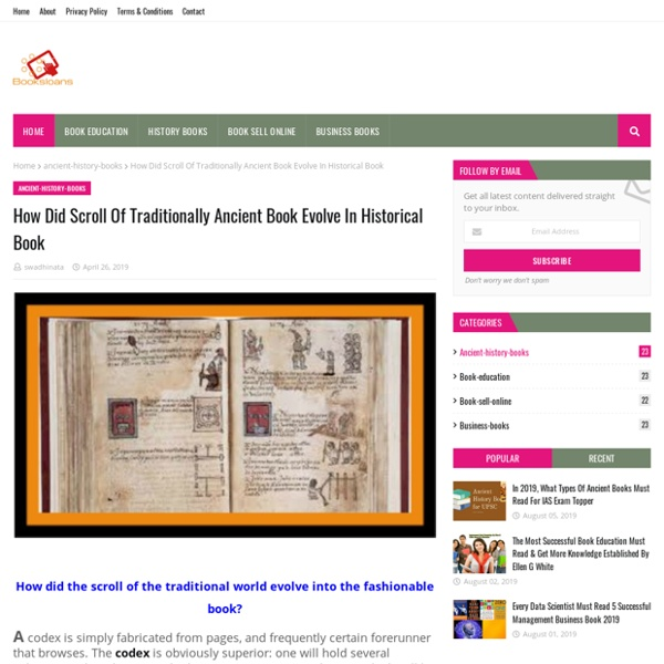 How Did Scroll Of Traditionally Ancient Book Evolve In Historical Book
