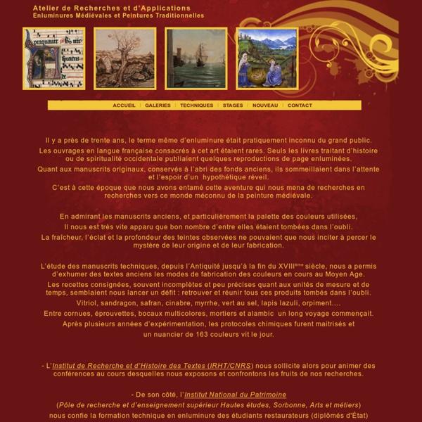 ENLUMINURE : Enluminure traditionnelle - Enluminures médiévale