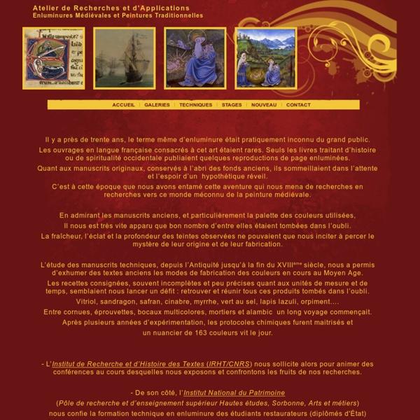 Accueil  Enluminure  Enluminure Traditionnelle  Enluminures