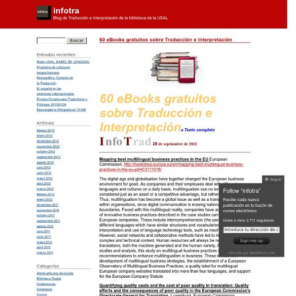 60 eBooks gratuitos sobre Traducción e Interpretación