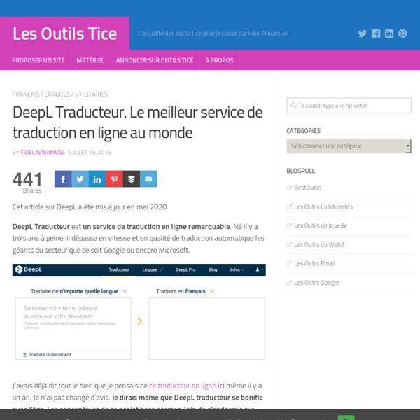 #Traduction-DeepL. Le meilleur service de traduction en ligne au monde