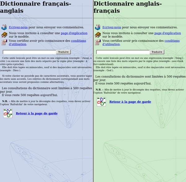 Traduction : dictionnaire français-anglais dictionnaire anglais-français