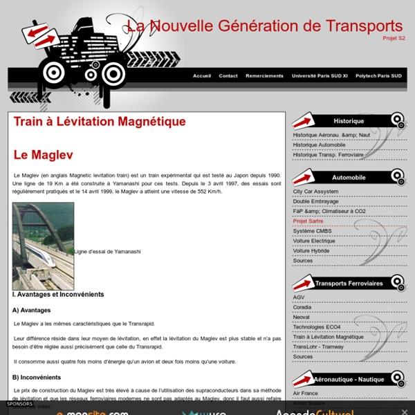 Train à Lévitation Magnétique - La Nouvelle Génération de Transports