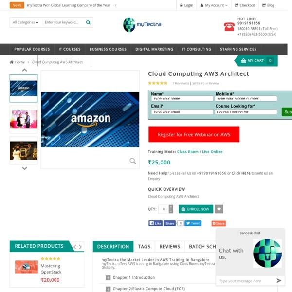 AWS Training in Bangalore Classroom, Online myTectra
