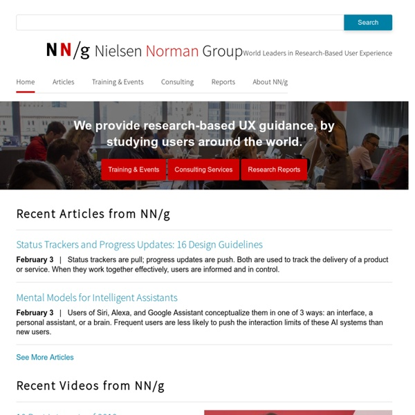 Nielsen Norman Group: usability consulting, training & user research reports