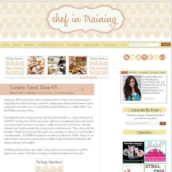 A great place to find easy, delicious and family friendly recipes.