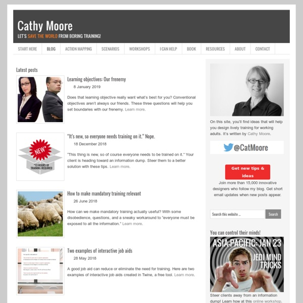 Training design ideas from Cathy Moore