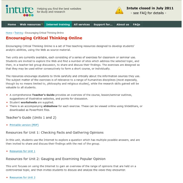 critical thinking training outline As a critical thinker apply critical thinking skills to your personal and professional challenges training's are a good reinforcement to some of the.