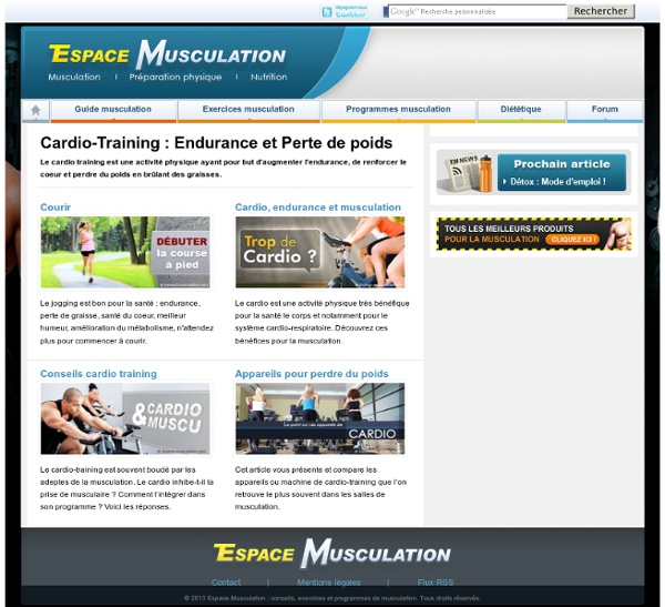 Cardio-Training : Endurance et Perte de poids