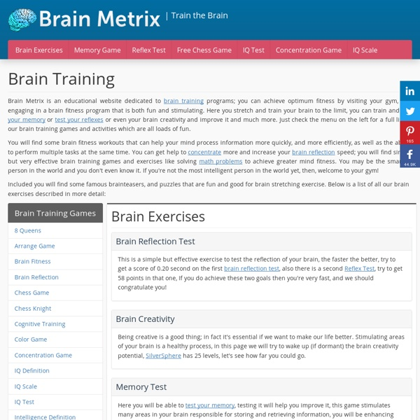 Brain Fitness Games