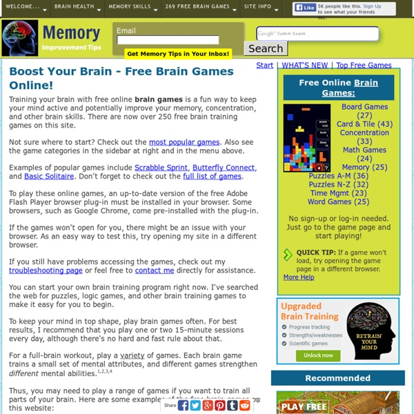 Free Brain Games Training Online - Improve Memory, Have Fun!