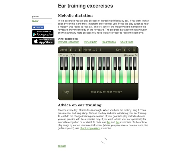 Ear training online and mobile