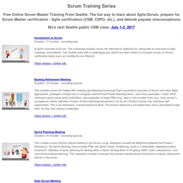 Scrum Training Series: Free Scrum Master Training