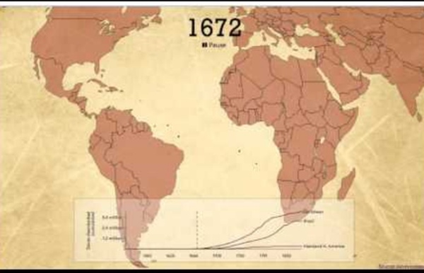 4ème - Hist - Carte animée: La traite négrière atlantique
