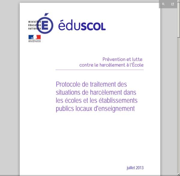 LUTTE CONTRE LE HARCELEMENT A L'ECOLE - protocole_traitement_harcelement.pdf