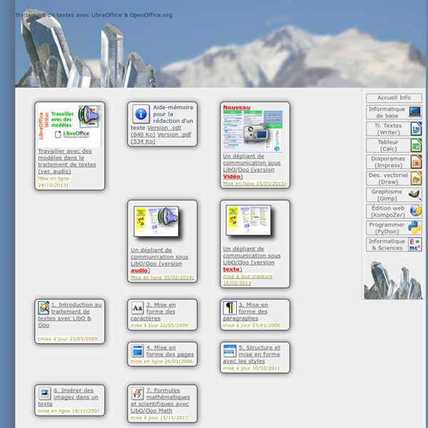 Traitement de textes avec OpenOffice.org