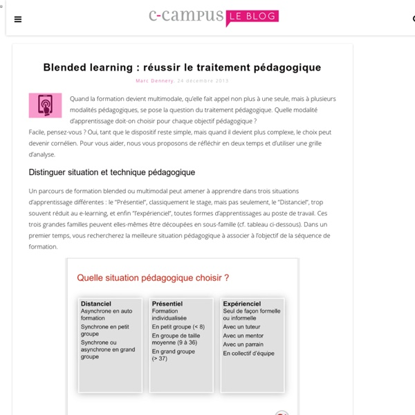 Blended learning : réussir le traitement pédagogique