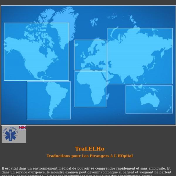 TraLELHo : Traductions pour Les Etrangers à L'HOpital