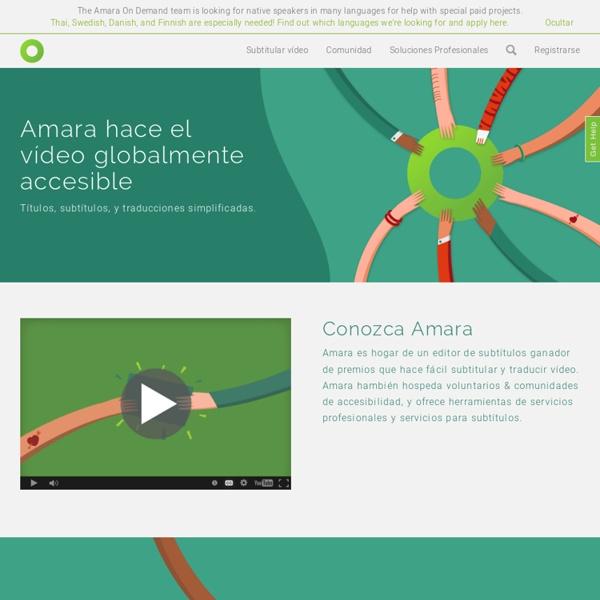 Amara - Subtítulos universales: subtitula, traduce y transcribe video.