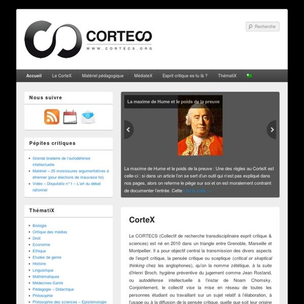 Le CorteX (COllectif de Recherche Transdisciplinaire Esprit Critique & Sciences)