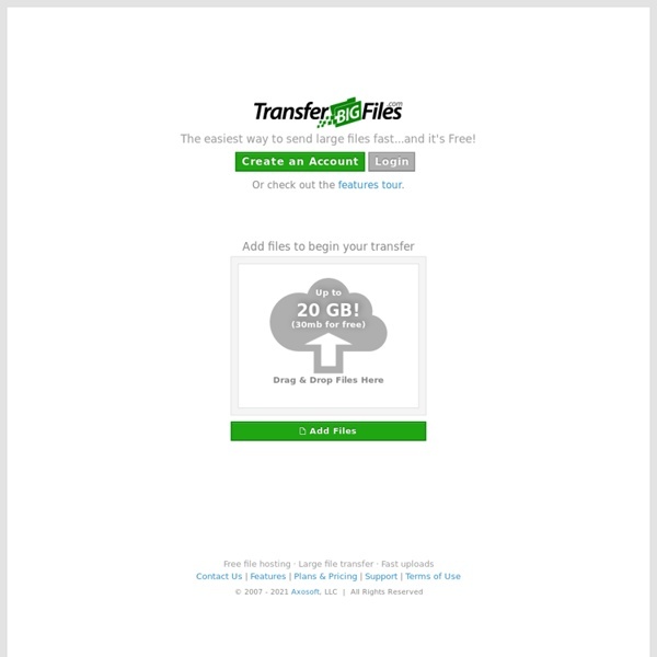 Transfer Big Files Free - Email or Send Large Files