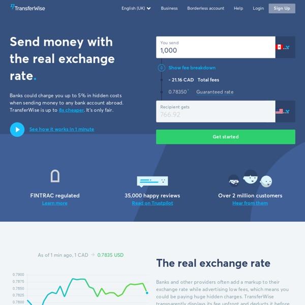 Envoyez de l'argent à l'étranger avec TransferWise