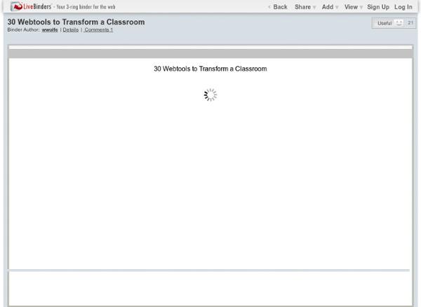 30 Webtools to Transform a Classroom