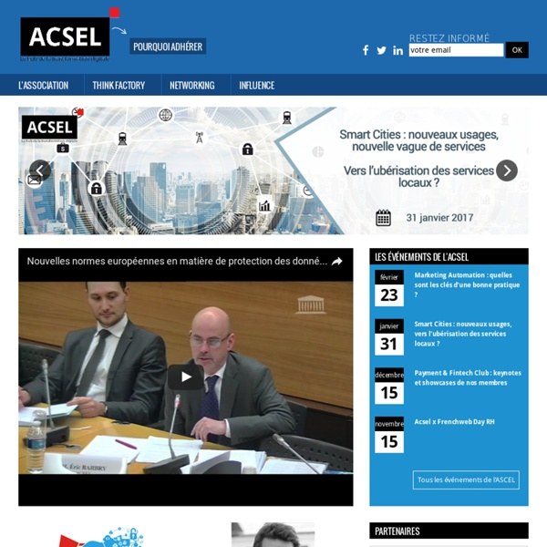 Acsel - Association de l'économie numériqueAcsel