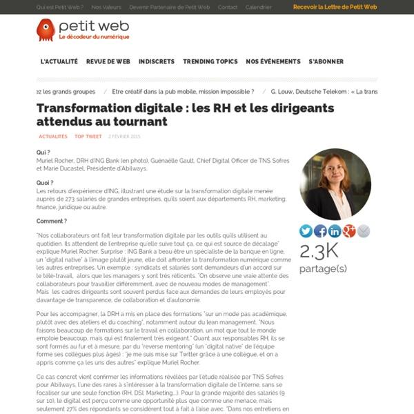Transformation digitale : les RH et les dirigeants attendus au tournant