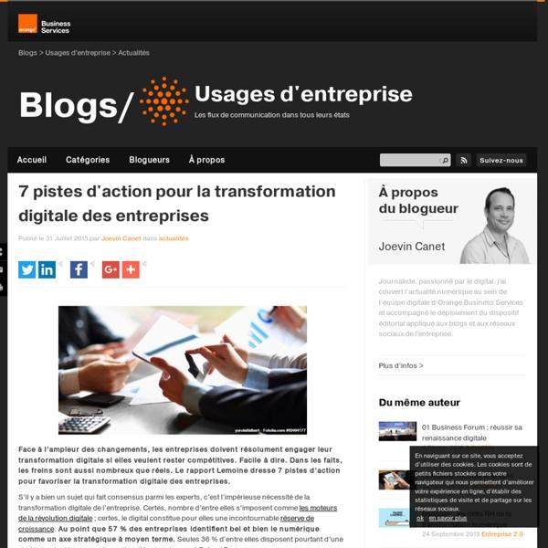7 pistes d'action pour la transformation digitale des entreprises