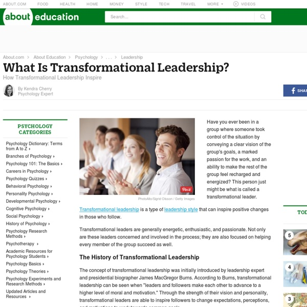 Transformational Leadership: How These Leaders Inspire and Motivate