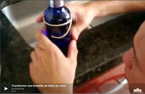 Transformer une bouteille de bière en verre