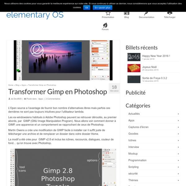 Transformer Gimp en Photoshop