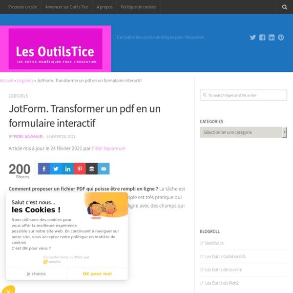 JotForm. Transformer un pdf en un formulaire interactif