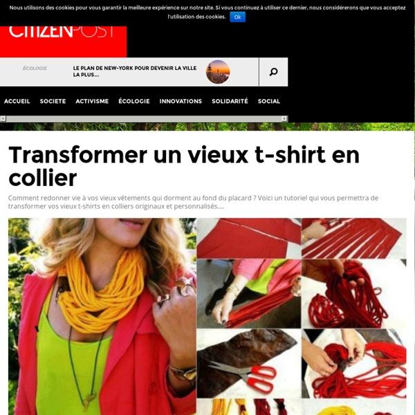 Transformer un vieux t-shirt en collier