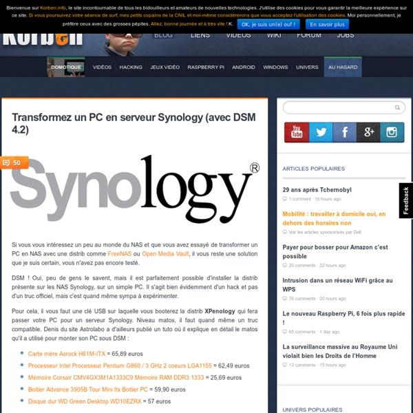 Transformez un PC en serveur Synology (avec DSM 4.2)