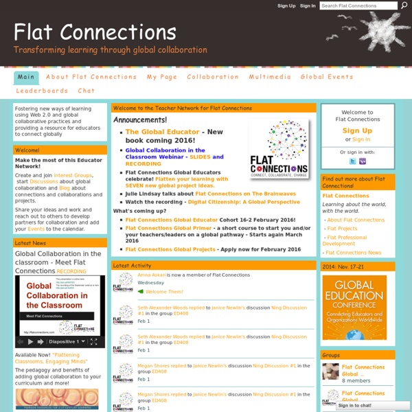 Flat Connections - Transforming learning through global collaboration