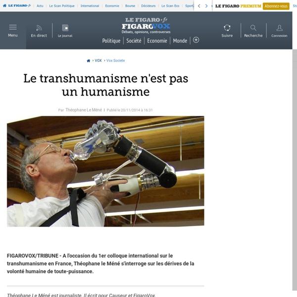 Le transhumanisme n'est pas un humanisme