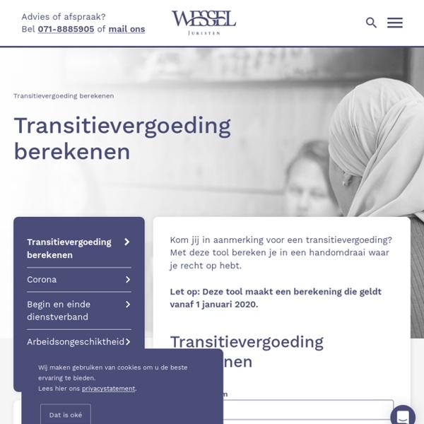 Transitievergoeding berekenen - Wessel Juristen