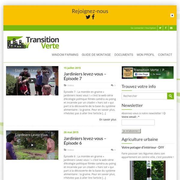 Transition Verte ou le Projet Windowfarms