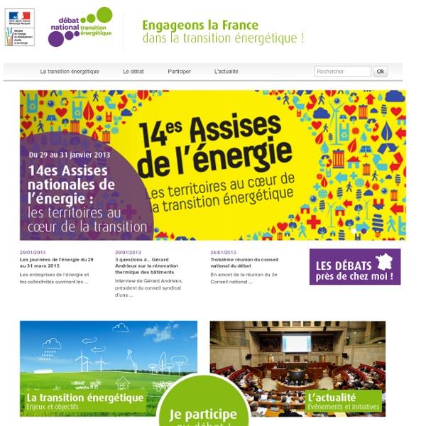 Bienvenue sur le site du Débat national sur la transition énergétique